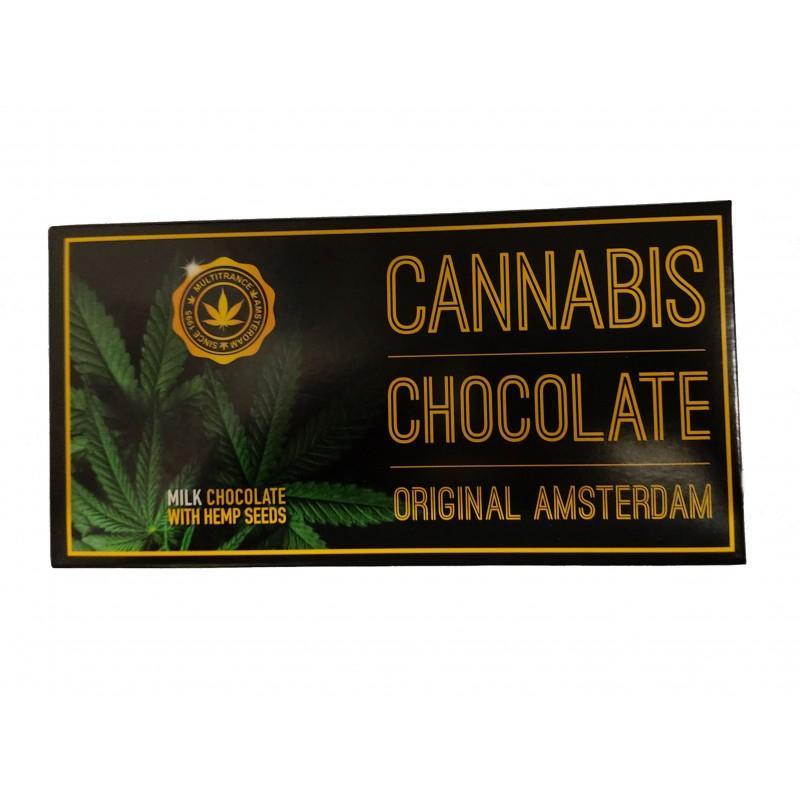 Chocolat au lait et graines de chanvres cannabis