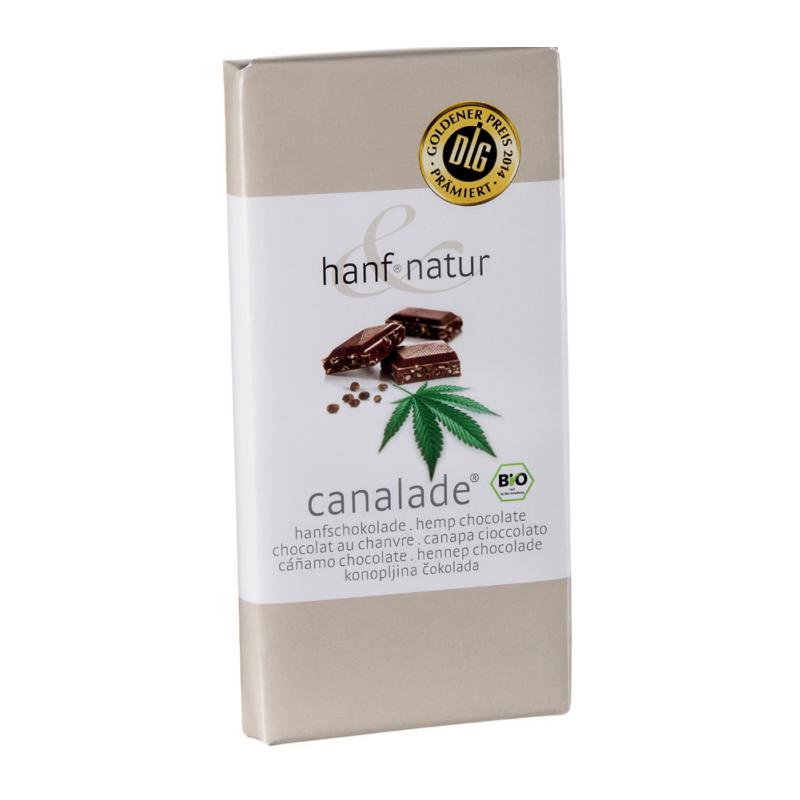 Chocolat au lait fourree aux graines chanvres bio 100g