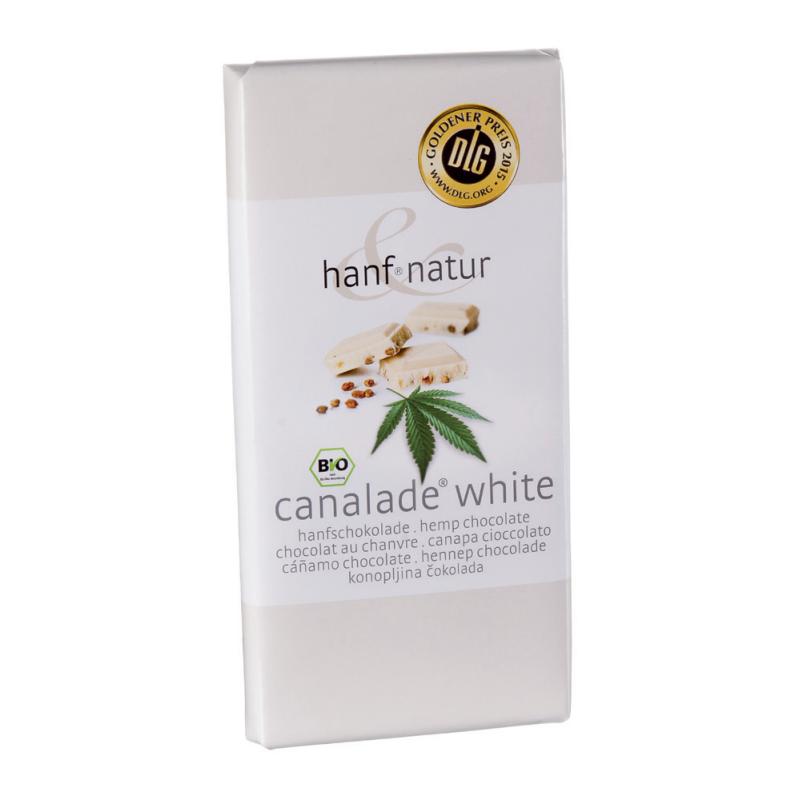 Chocolat blanc fourree aux graines de chanvres bio 100g