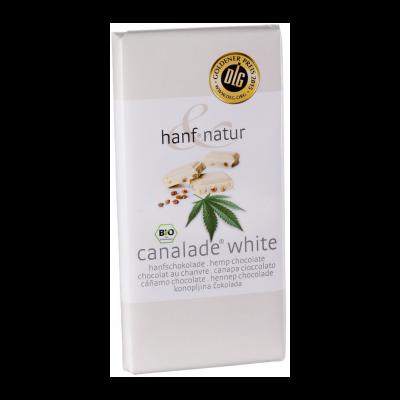 Chocolat blanc fourré aux graines de chanvre