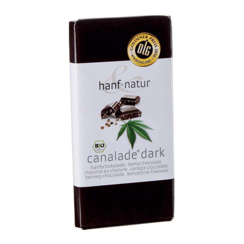 Chocolat noir fourree aux graines de chanvres bio 100g
