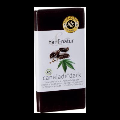 Chocolat noir fourré aux graines de chanvres