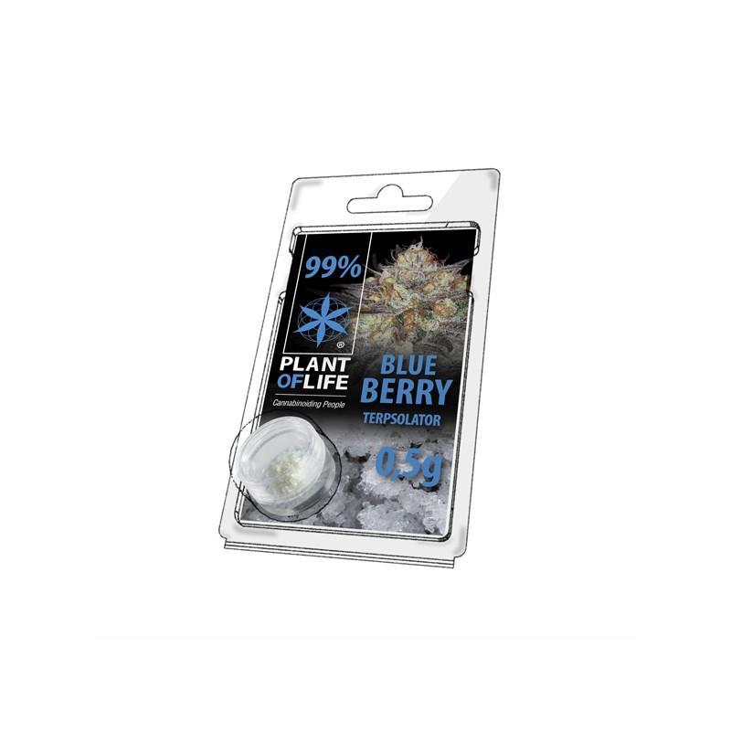 Cristaux de cbd aromatises blueberry 99 pur 500mg