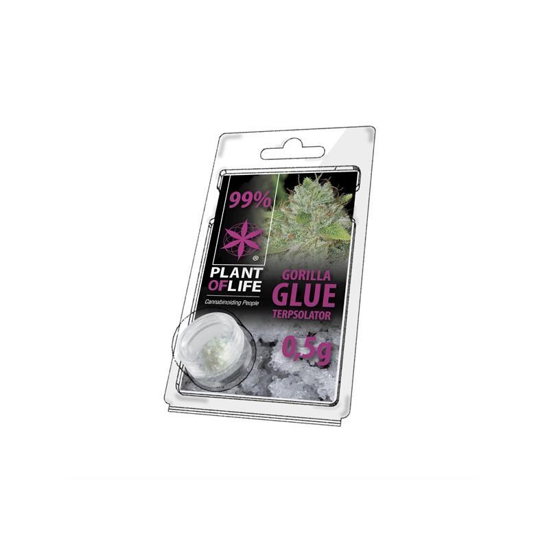 Cristaux de cbd aromatises gorilla glue 99 pur 500mg