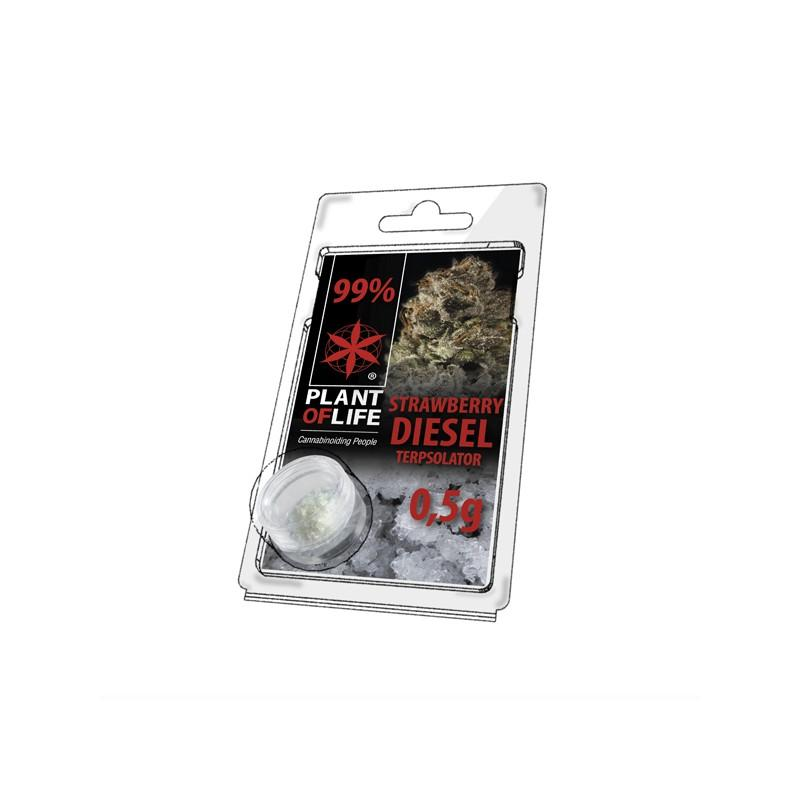 Cristaux de cbd aromatises strawberry diesel 99 pur 500mg