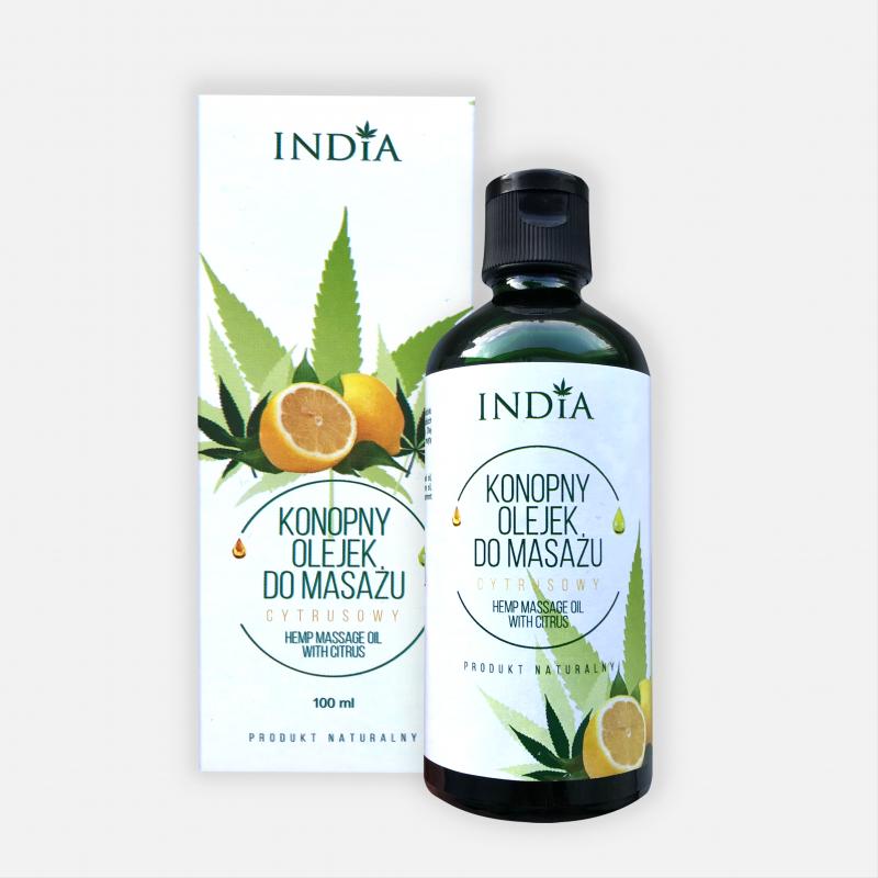 Huile de massage a l huile de chanvre et agrume 100ml