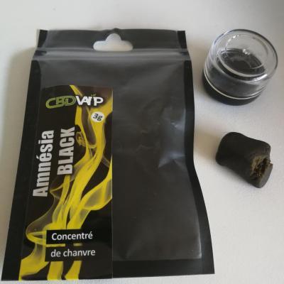 Résine CBD Amnésia Black 20% 3g - Spectre complet