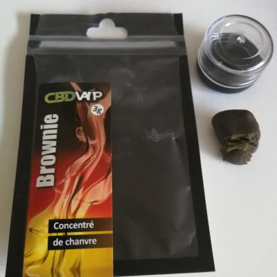 Résine CBD Brownie 20% - 3g - Spectre complet