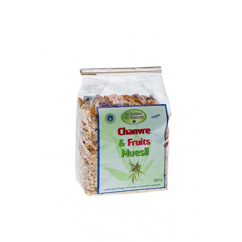 Muesli chanvre et fruits 500g