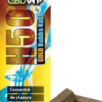 Résine CBD H50 Bubba - 50% - 3g - Spectre complet