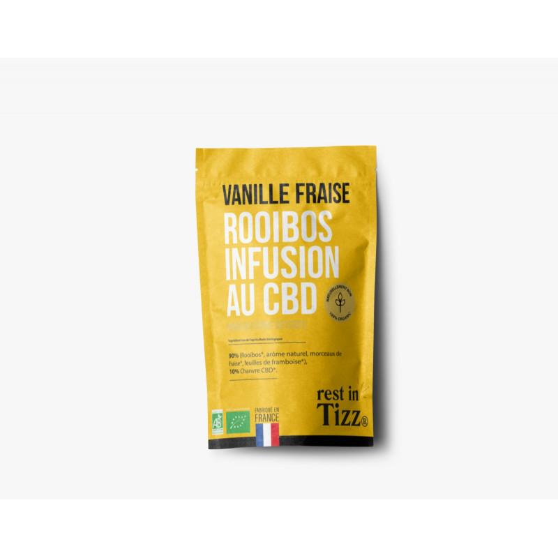 Rooibos bio infusion au cbd vanille fraise by tizz